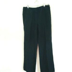 NWT! LOFT Black Linen Blend Dress Pants 6